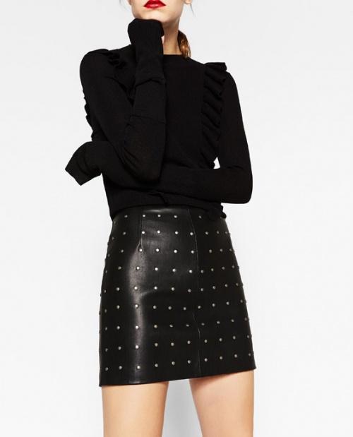 Zara mini jupe cloutées