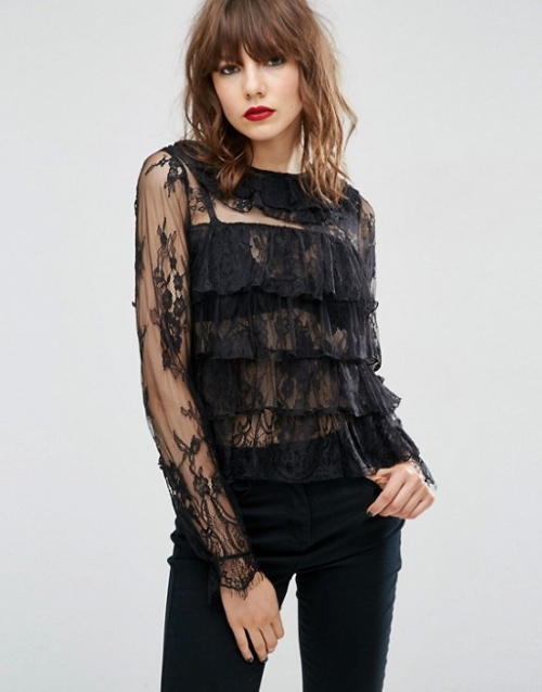 Asos top transparent