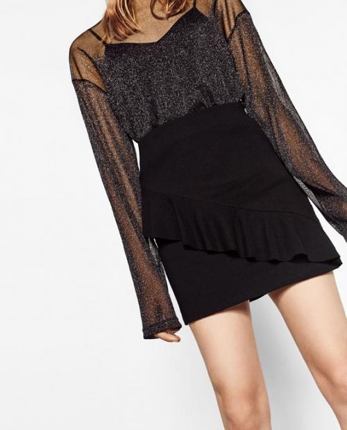 Zara jupe volant noire