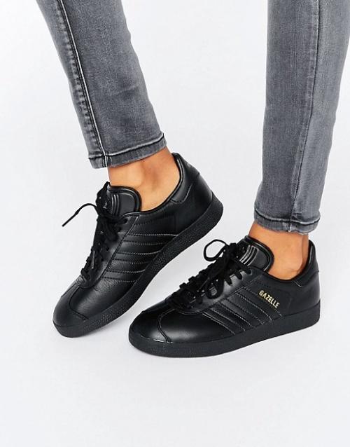 Adidas Originals baskets noires cuir
