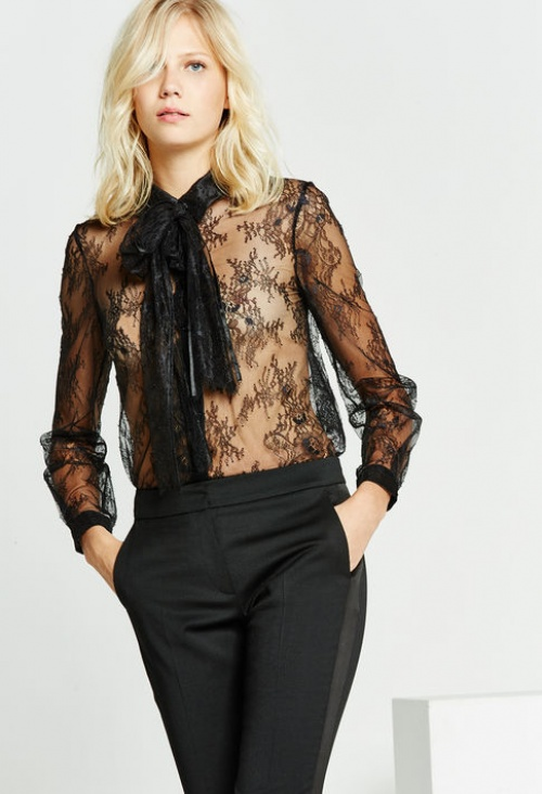 Claudie Pierlot - Top transparent dentelle