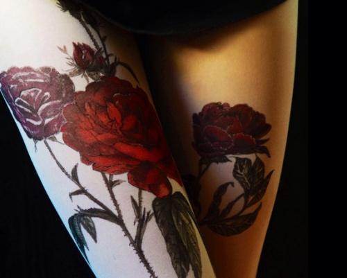 Tatul  collants motif fleur