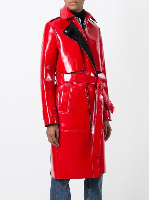 Carven - Trench  vinyle rouge