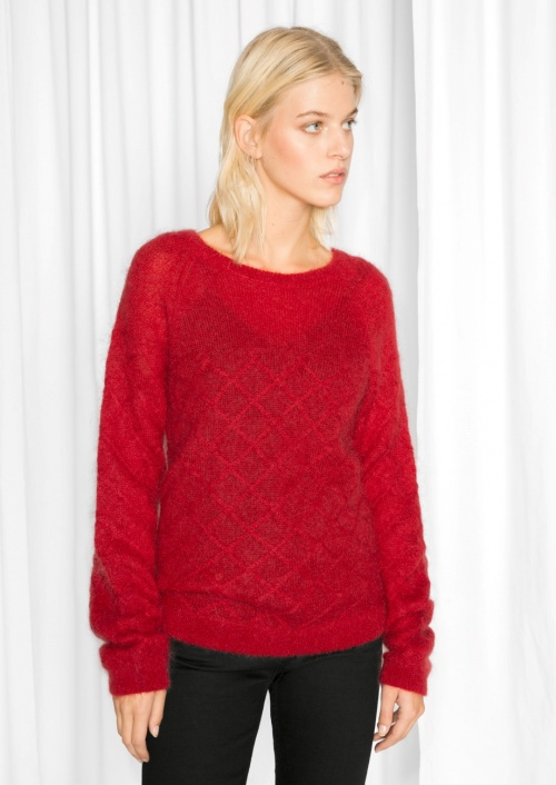 & Other Stories - Pull rouge mohair