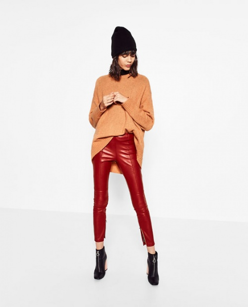 Zara Legging cuir vinyle
