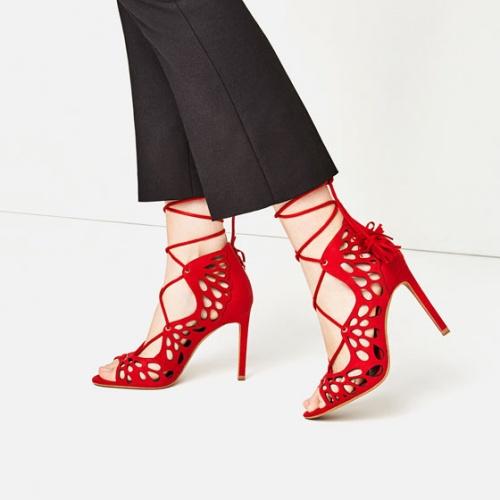 Zara - Sandales ajourées lacets