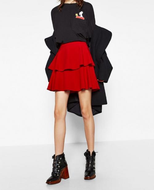 Zara jupe double volant