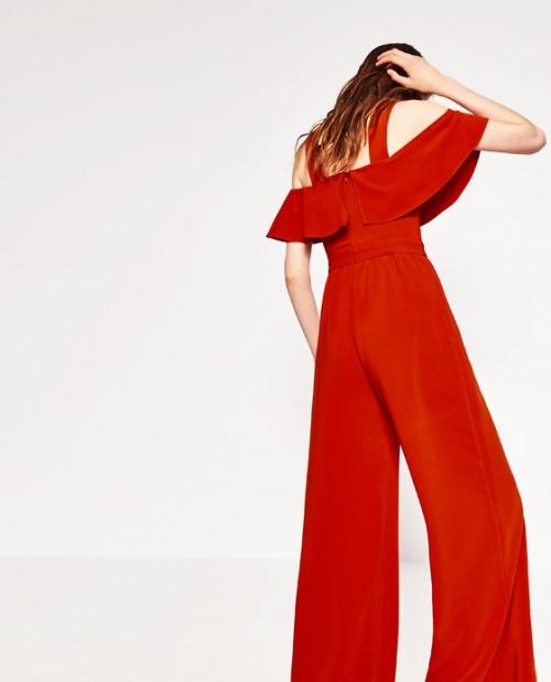 Zara - Combinaison  rouge vif