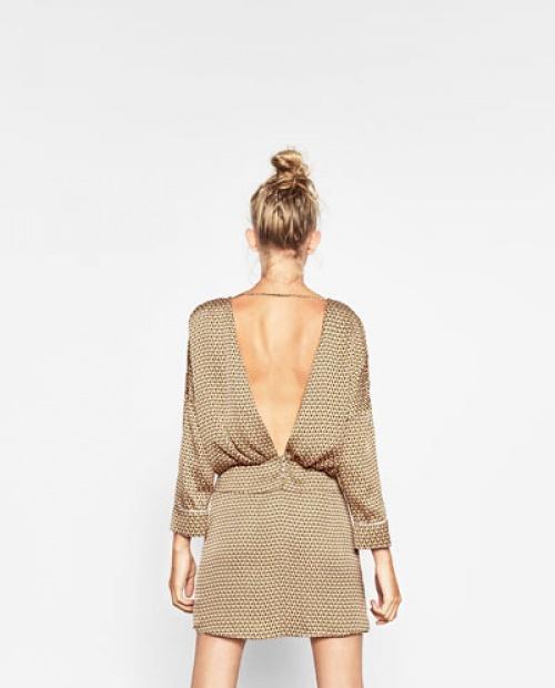 Zara - Robe dos décolleté V