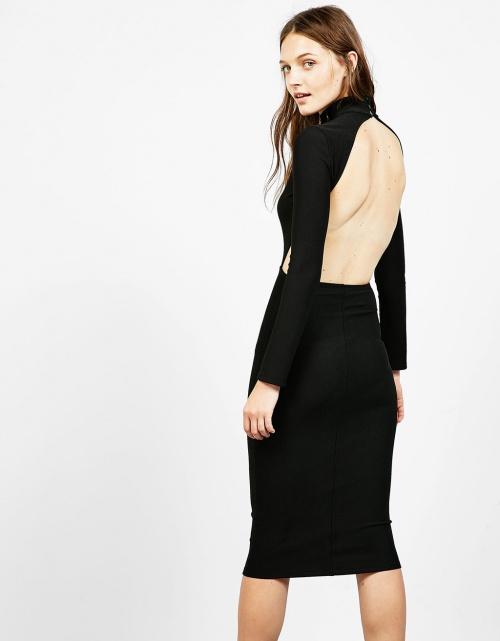 Bershka  robe noire dos nu