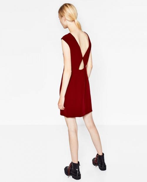 Zara - Robe rouge dos ajouré