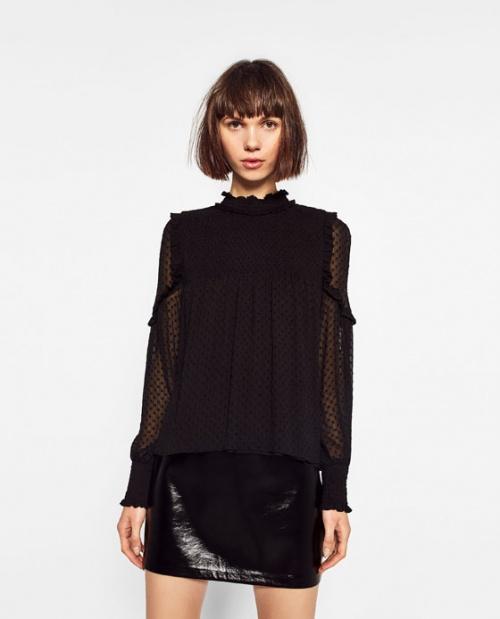 Zara top plumetis