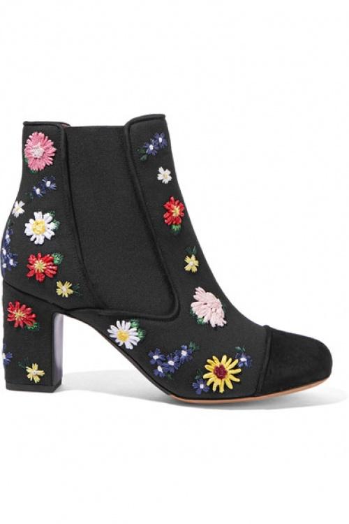 Tabitha Simmons - Bottines fleurs brodées