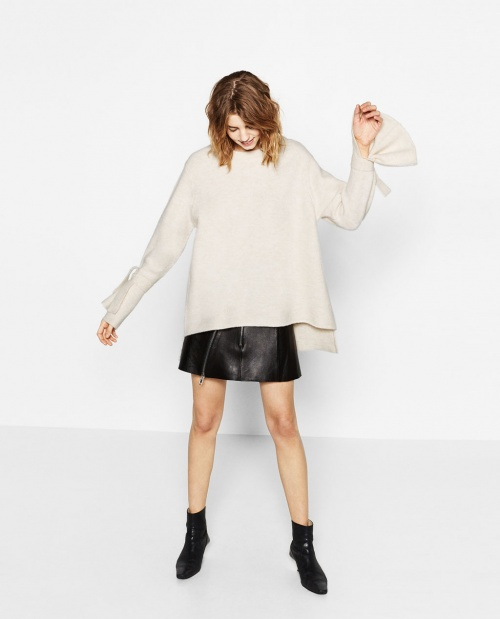 Zara - Pull avec manches ourlets