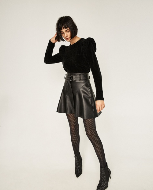 Zara - Mini jupe en simili cuir