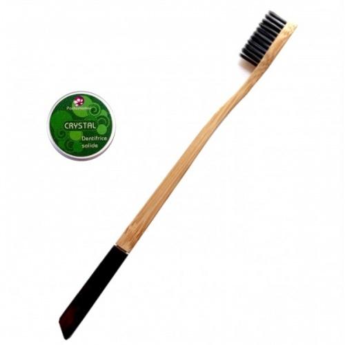 Dentifrice solide et brosse à dent biodégradable