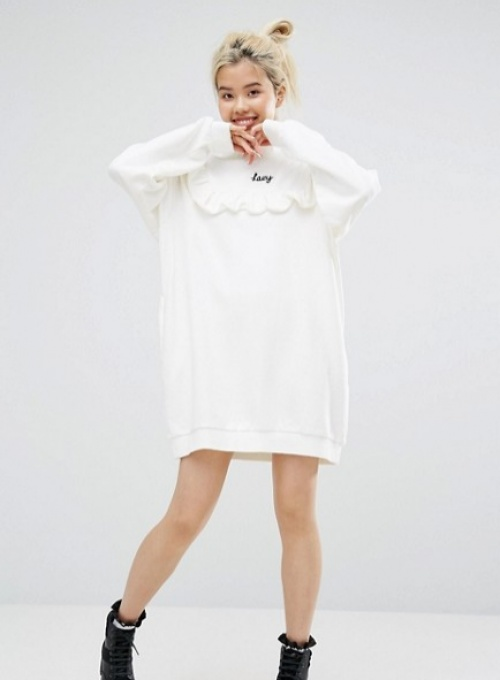 Lazy Oaf  robe blanche sweat
