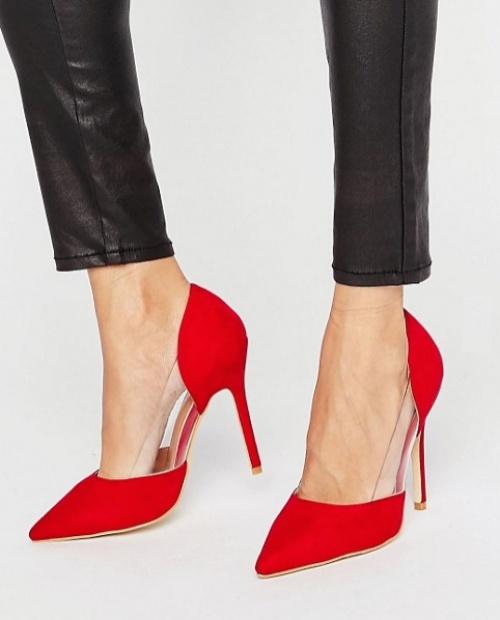 Public Desire escarpins rouge transparents