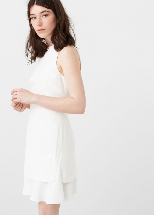 Mango robe blanche