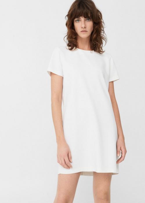 Mango robe fluide blanche