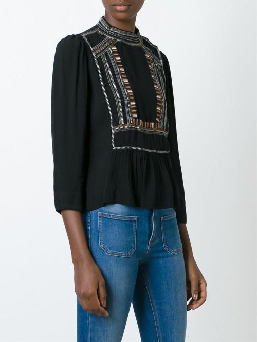 Isbal Marant blouse brodée