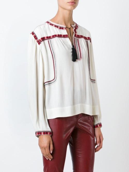 Isabel Marant blouse ethnique brodée