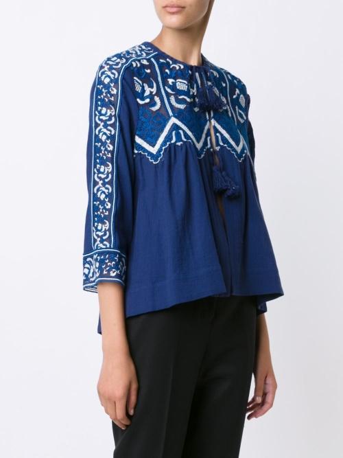Sea blouse brodée