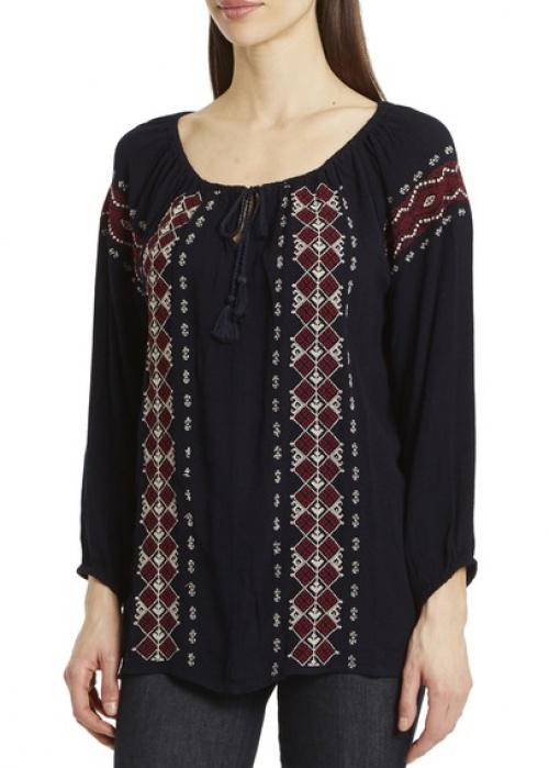 Kookaï blouse ethnique brodée