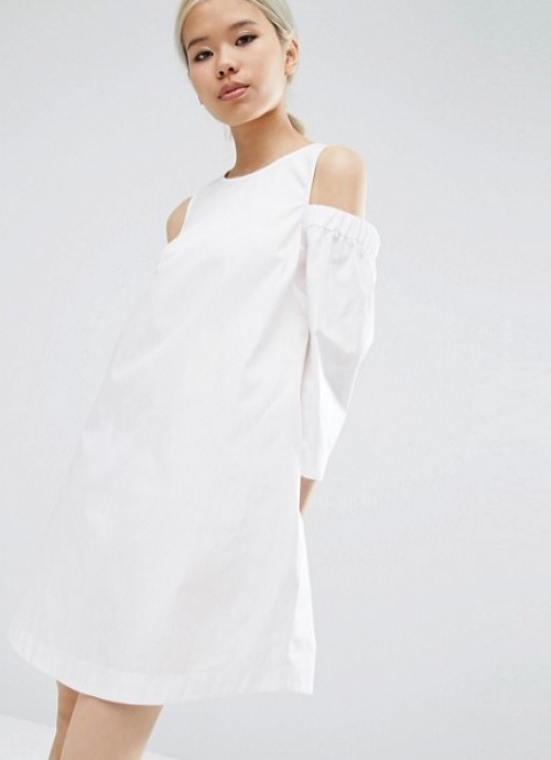 Asos  robe coton ample épaules nues
