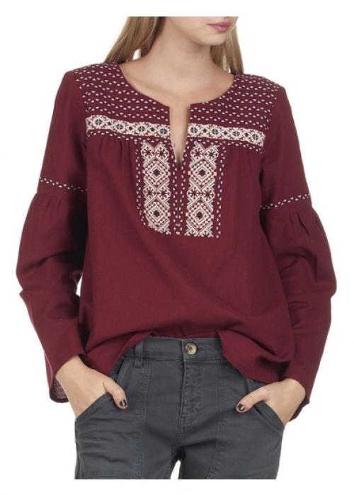 Bensimon blouse bordeaux brodée