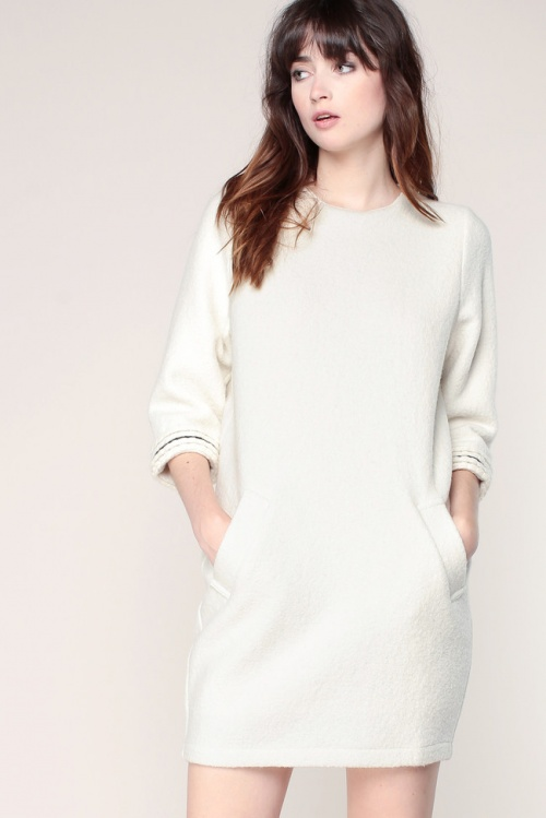 Sessun  robe sweat blanche