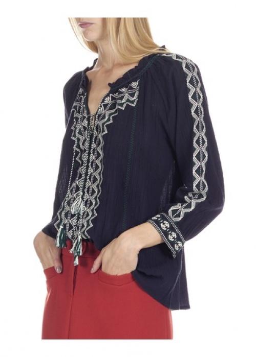 Ba&sh blouse brodée
