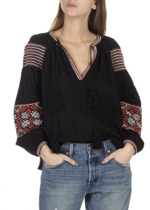 Antik batik blouse brodée ethnique