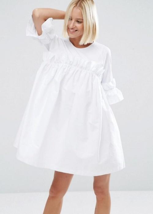 Asos robe courte ample blanche