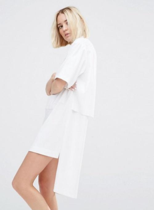 House of Sunny robe blanche asymétrique