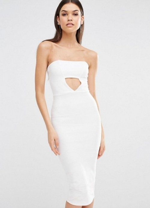 Missguided robe blanche à découpe taille