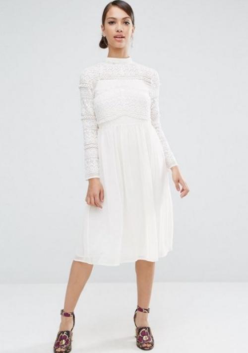 Asos robe dentelle blanche