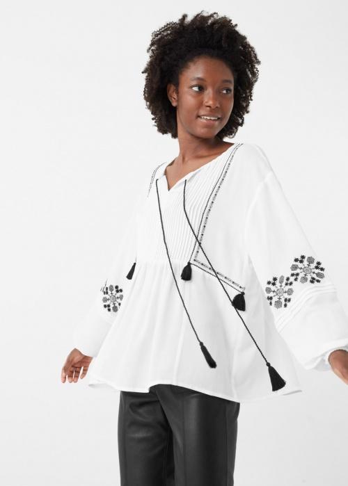 Mango blouse ethnique brodée