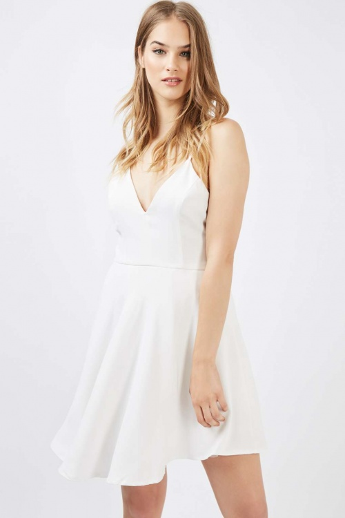 Topshop robe patineuse blanche
