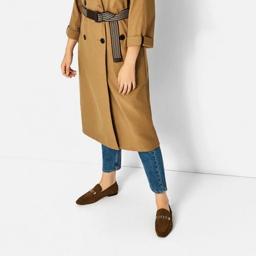 Zara - Mocassins en daim bruns