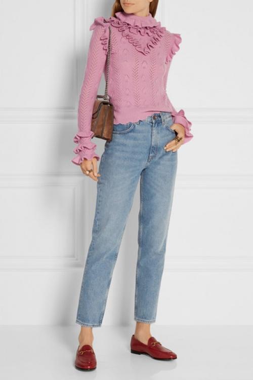 Gucci - Pull en mailles pointelle de laine
