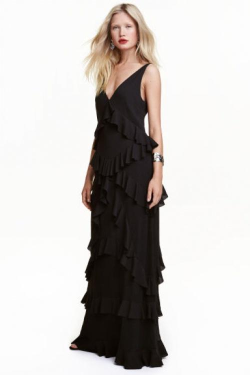 H&M robe longue à volants
