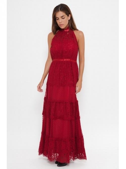Deby Debo robe longue rouge