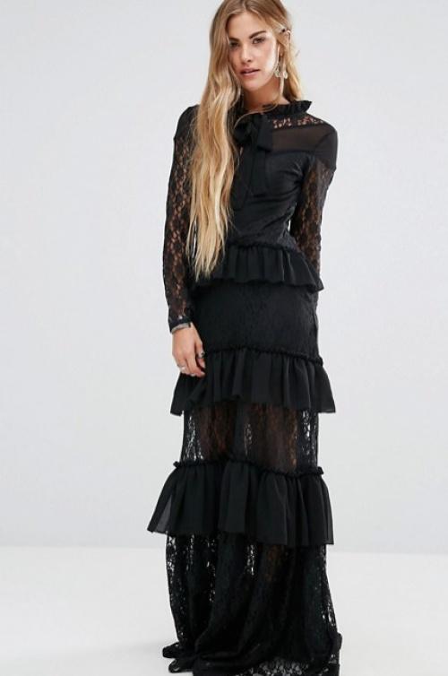 Glamorous robe longue transparente