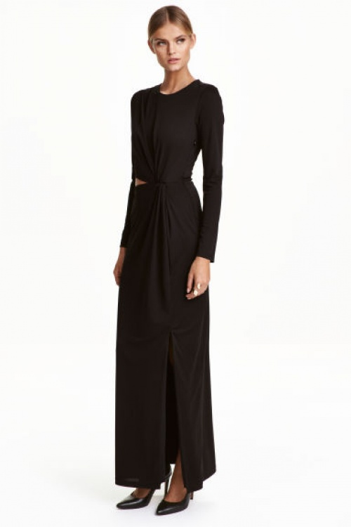 H&M robe longue à découpe taille