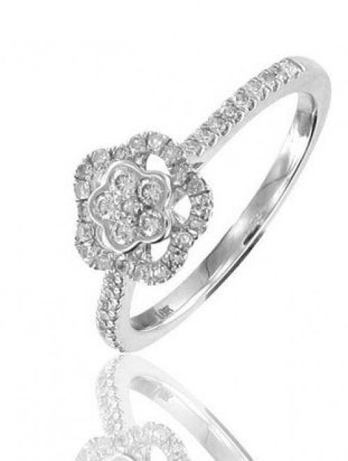 Bague de fiançailles Or blanc et diamants
