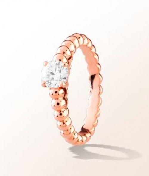 Bague de fiançailles Or rose et diamant