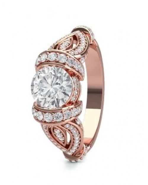Bague de fiançailles Or rose et diamants