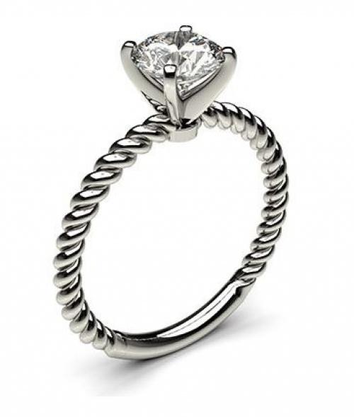 Bague de fiançailles Or blanc et diamant