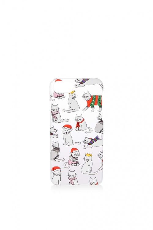 Top Shop - Coque chat de Noël pour iPhone 6 et 7